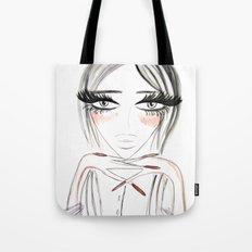 Grey Eyes Tote Bag