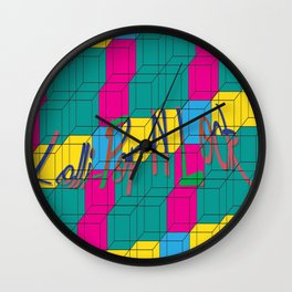 Lolli-PopNLock Wall Clock