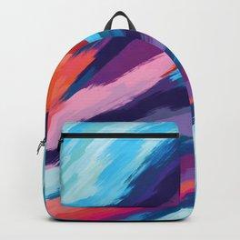 Colorful Brushstroke Digital Painting Backpack