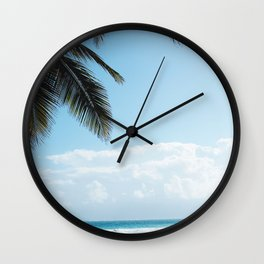 Lazy Afternoons in Tulum, Mexico Wall Clock