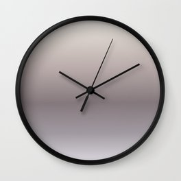 Taupe Gradient Wall Clock