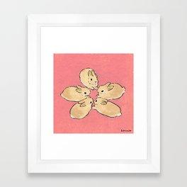 like a flower Framed Art Print