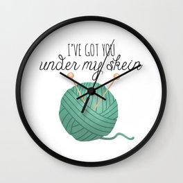 I've Got You Under My Skein Wall Clock