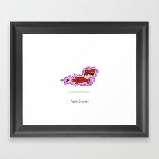 Psycho Crusher Framed Art Print