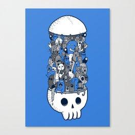 doodle breakout (blue) Canvas Print