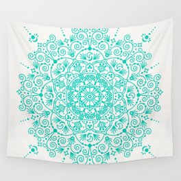 Moroccan Mandala – Turquoise Palette Wall Tapestry