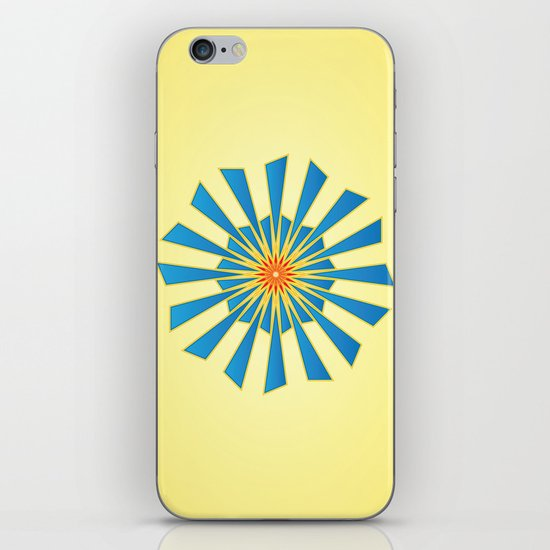 Spring Blue iPhone & iPod Skin