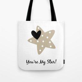 Star Heart Tote Bag