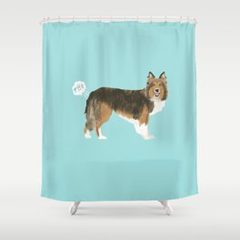 sheltie funny farting dog breed pure breed pet gifts Shower Curtain