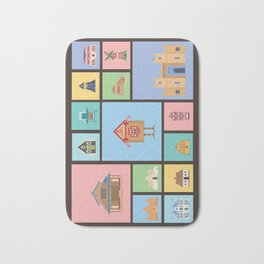 Houses of the World Bath Mat