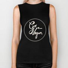 Go Vegan Grey Biker Tank