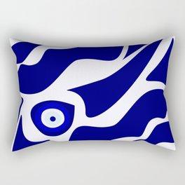 Evil Eye Lava Pattern Rectangular Pillow
