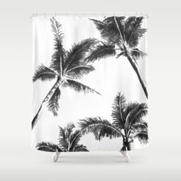 Palm Trees from Below Shower Curtain