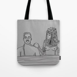 The royal penis is clean, your Highness. Tote Bag