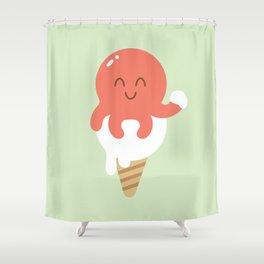 Octopus Ice-cream Shower Curtain