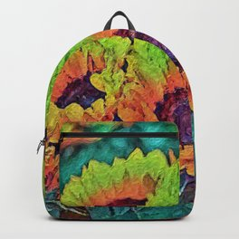Hot Painted Sunflowers Backpack