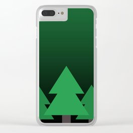 Green Treescape Clear iPhone Case