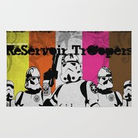 reservoir dogs Area & Throw Rugs featuring ReServoir TrOopers by PIXEL MUNKI