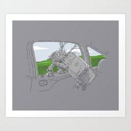 Cruisin' Walker Art Print