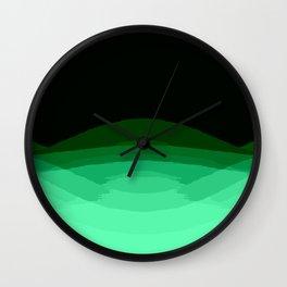 Mint Green Black Ombre Wall Clock