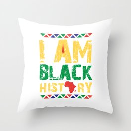 I'm Black History, Black Lives Matter, African American Pride Throw Pillow