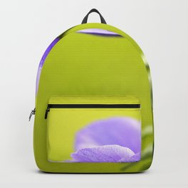 Purple Anemone Natural Green Background Backpack