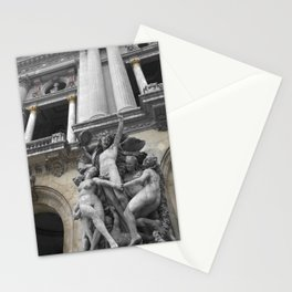 Paris Opera black and white with color GOLD Stationery Cards