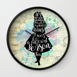 Alice in Wonderland - I Was A Different Person Then Wall Clock