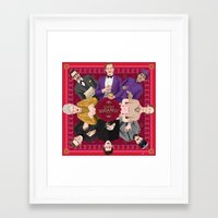 budapest hotel Framed Art Prints featuring The Grand Budapest Hotel by Kitty Rouge