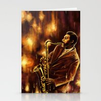 jazz Stationery Cards featuring Jazz by Linarts