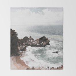 Wild Beach 2 Throw Blanket