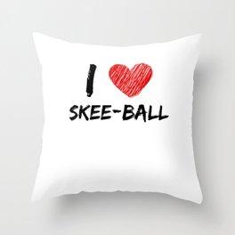 I Love Skee-Ball Throw Pillow