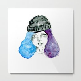 Random girl Metal Print