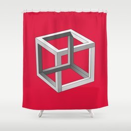 Impossible Cube Shower Curtain