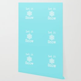 Let it Snow! Icy Blue Wallpaper