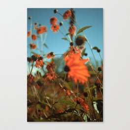 Autumn Waving with the Breeze Canvas Print