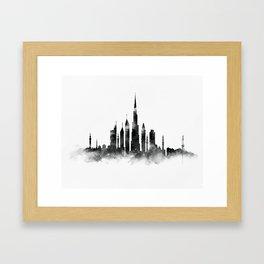 Dubai Skyline Framed Art Print