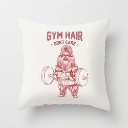 Gym hair don't care shih tzu Throw Pillow