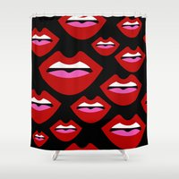 lips Shower Curtains featuring Lips by Nastya Bo