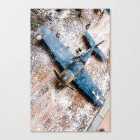 airplane Canvas Prints featuring Airplane by Mauricio Santana