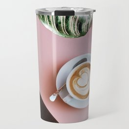 pink latte Travel Mug