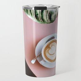 pink latte Travel Mug