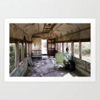 train Art Prints featuring train by Pilar Parada