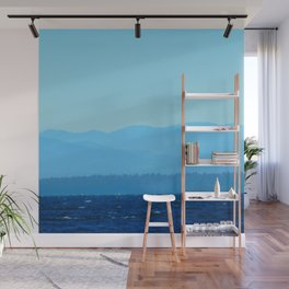 Blue on blue Wall Mural