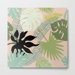 Palm Frond Play Metal Print