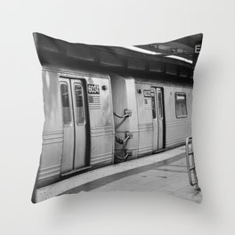 New York City metro, USA   City escape   Black and white Travel photography art print Art Print Throw Pillow