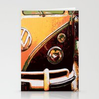 volkswagon Stationery Cards featuring Volkswagon Van by Alexandra Kube