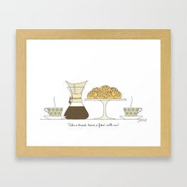 have a fika with me Framed Art Print