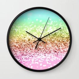 Rainbow Girls Glitter #1 #shiny #decor #art #society6 Wall Clock