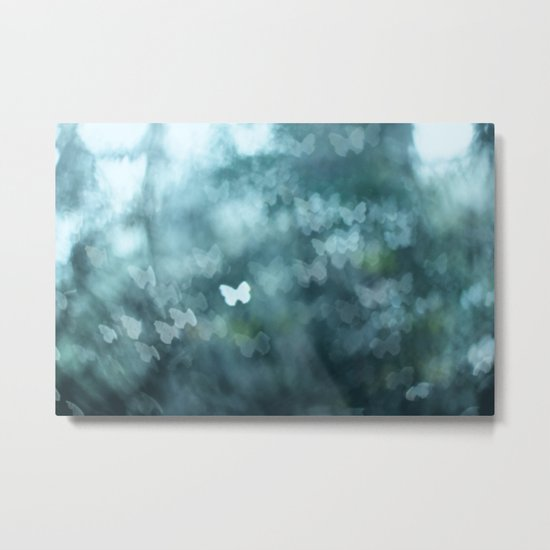 Flutter By Me Metal Print